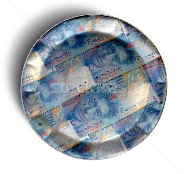 Money Pie Swiss Franc Stock photo © albund