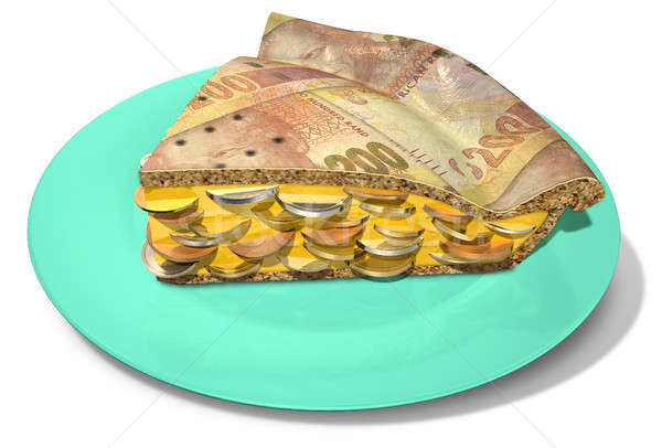 Slice Of Rand Money Pie Stock photo © albund