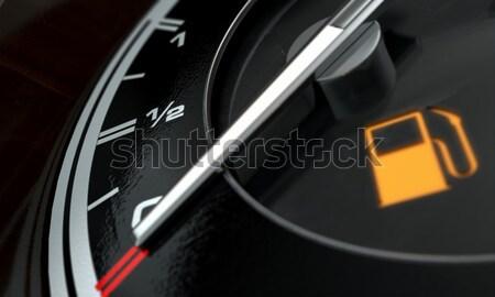低い ガソリン ダッシュボード 光 3dのレンダリング 極端な ストックフォト © albund