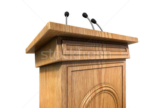 Press Conference Podium Stock photo © albund