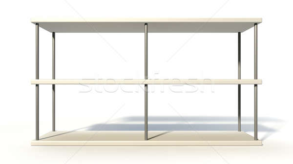 Empty Freestanding Shelf Stock photo © albund