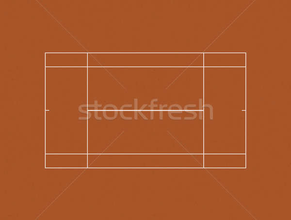 Tennis Court Clay Layout Stock photo © albund