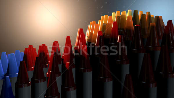Stock fotó: Viasz · zsírkréták · képzelet · drámai · spektrum · színes