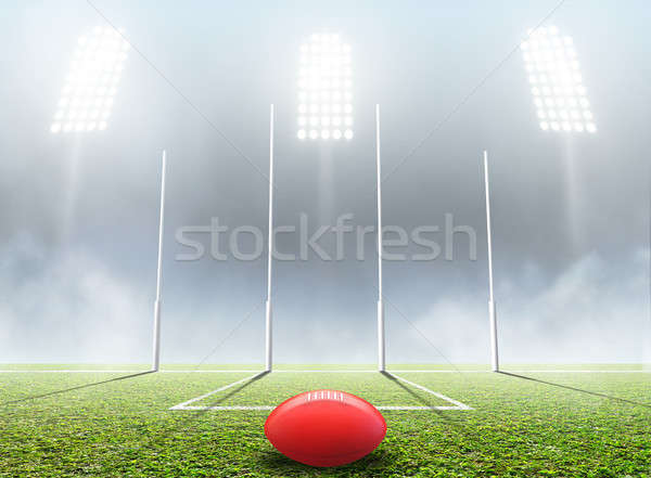 Sports Stadium And Goal Posts Stock photo © albund