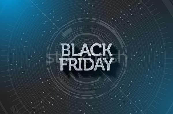 Black Friday Text On Black Stock photo © albund