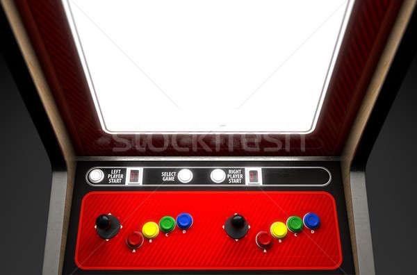 машина экране Vintage игры красочный Сток-фото © albund