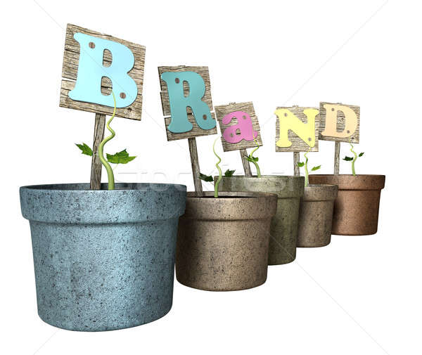 Grow Your Brand Flowerpot Stock photo © albund