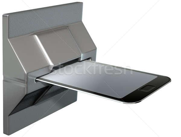 携帯電話 クレジットカード 支払い スロット グラフィック スマートフォン ストックフォト © albund