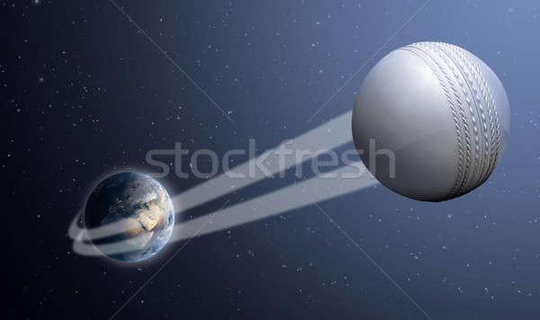 Aarde bal ruimte tonen regelmatig witte Stockfoto © albund
