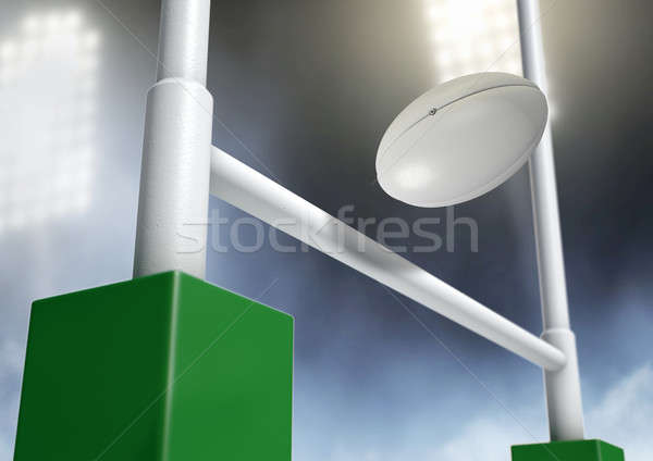 Rugby Posts Conversion Night Stock photo © albund