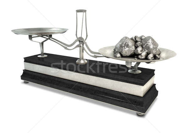 Two Pan Balance Scale And Platinum Stock photo © albund
