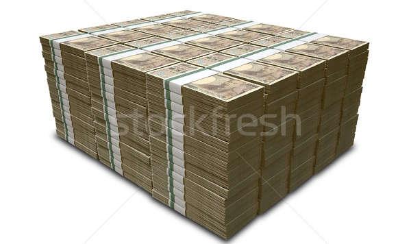 Yen notas japonés billetes Foto stock © albund