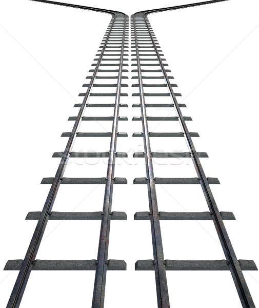 Pociągu odizolowany utwór dwa biały Zdjęcia stock © albund