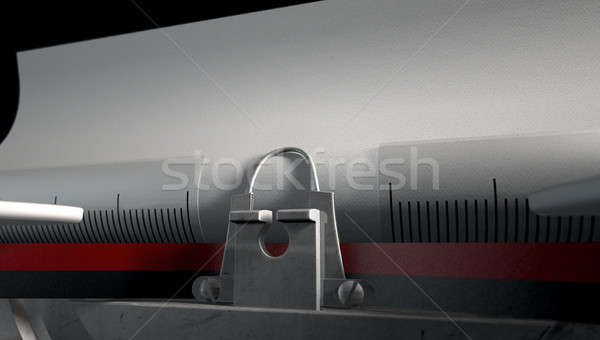 Stock photo: Typewriter Closeup
