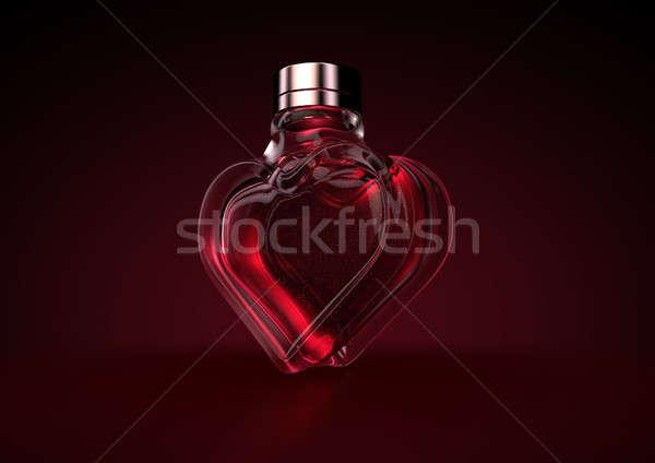 Heart Shaped Perfume Stock photo © albund