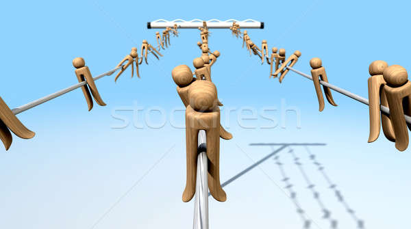 Clothes Pegs On A Line Stock photo © albund