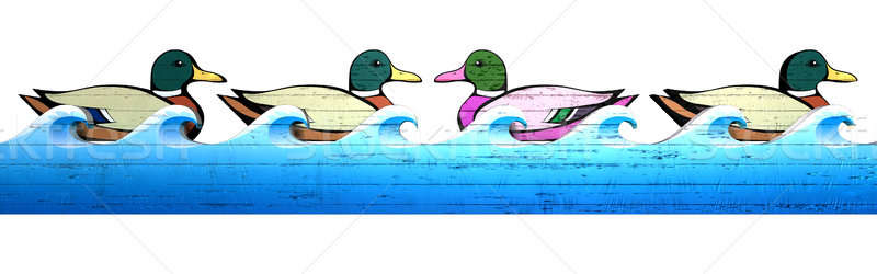 Carnival Duck Shooting Alley Against The Flow Stock photo © albund