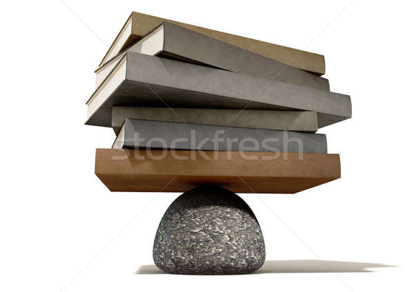 Balancing The Books On A Rock Stock photo © albund