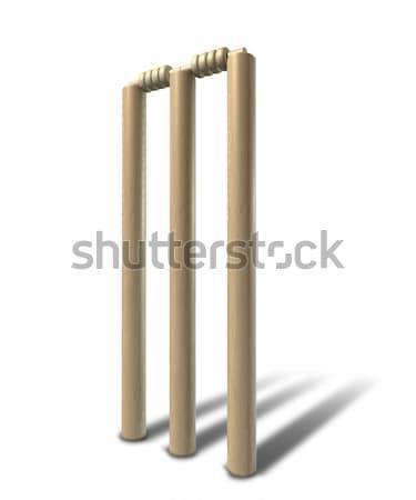 Foto stock: Cricket · pelota · perspectiva · aislado · rojo · cuero