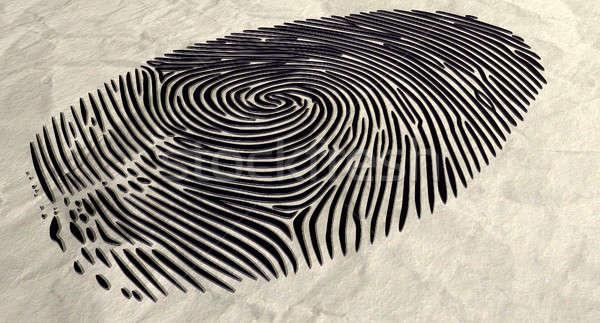 Impronte digitali estrema primo piano inchiostro rosolare Foto d'archivio © albund