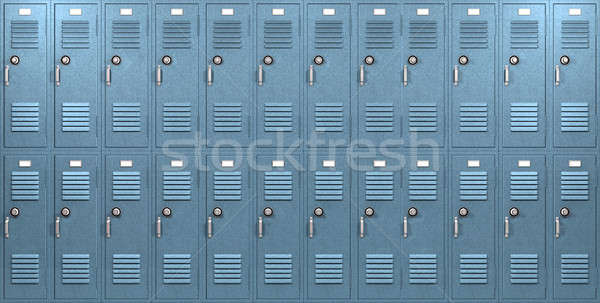 Blue School Lockers Front Stock photo © albund
