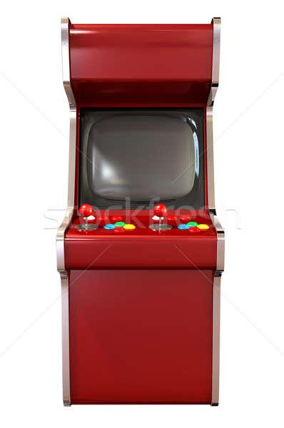 Vintage vermelho jogo joystick quatro Foto stock © albund