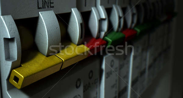 Electrical Circuit Breaker Panel Stock photo © albund