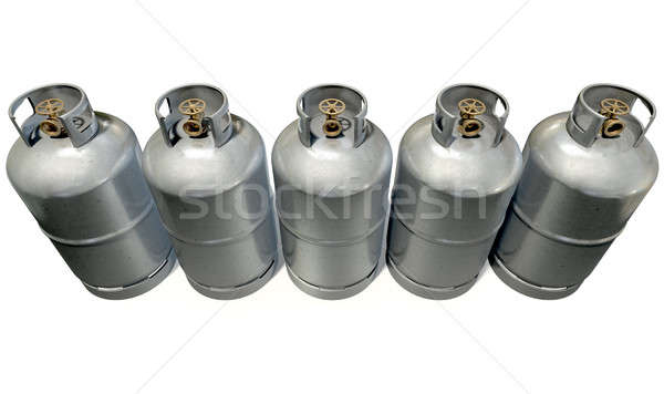 Stock photo: Gas Cylinder Row