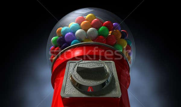 Gumball Dispensing Machine Dark Stock photo © albund