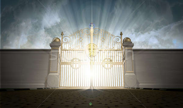 Heavens Gates Shut Stock photo © albund