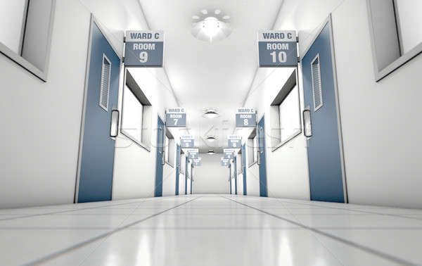 Hospital Hallway Stock photo © albund