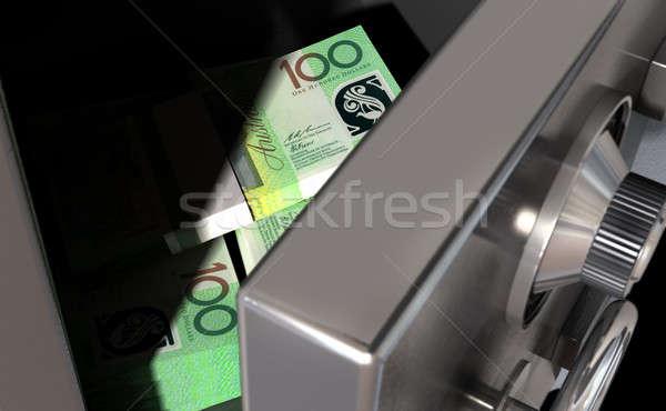 Open Safe With Australian Dollars Stock photo © albund