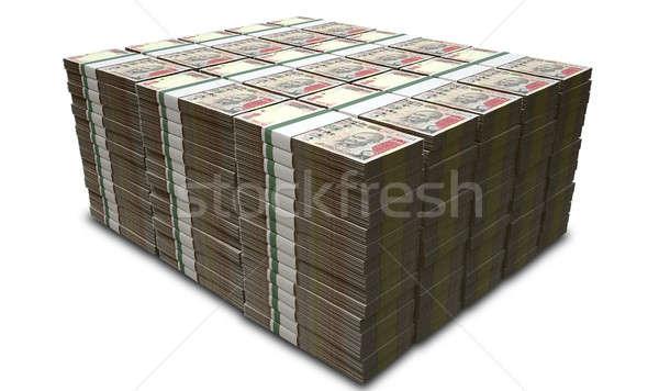Rupee Notes Pile Stock photo © albund