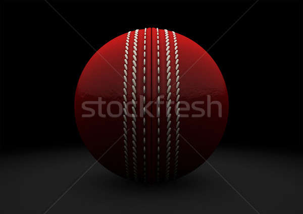 Red Cricket Ball Straight On Stock photo © albund