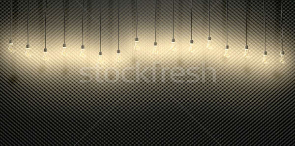 Bombillas acústico espuma frente vista gris Foto stock © albund