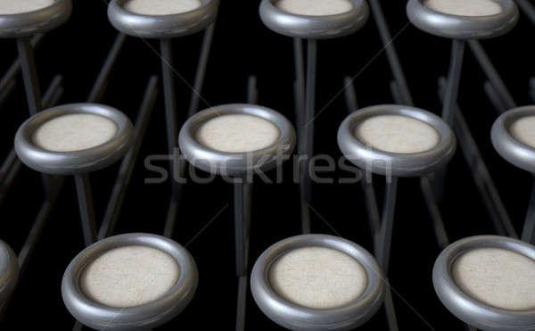Vintage Typewriter Blank Keys Stock photo © albund