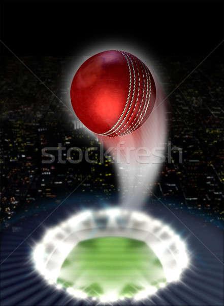 Stadium Night With Ball Swoosh Stock photo © albund