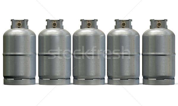 Gas Cylinder Row Stock photo © albund