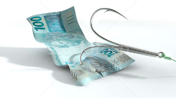 Real Banknote Baited Hook Stock photo © albund
