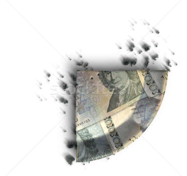 Slice Of Swedish Kronor Money Pie Stock photo © albund