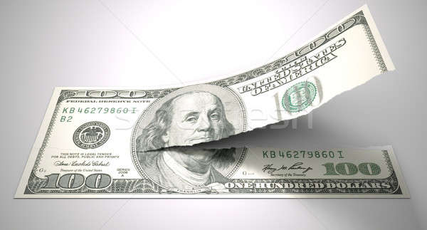 Tearing American Dollar Stock photo © albund
