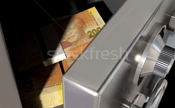 Open Safe With South African Rands Stock photo © albund