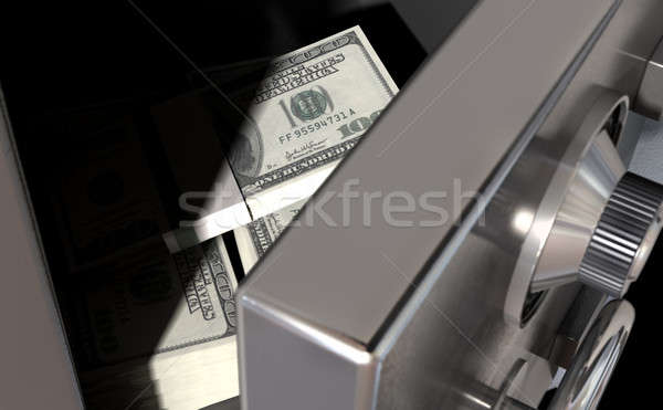 Open Safe With US Dollars Stock photo © albund