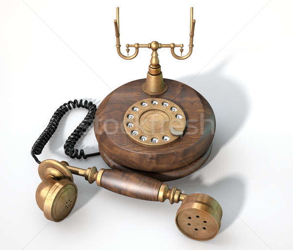 Vintage Telephone Off The Hook Stock photo © albund