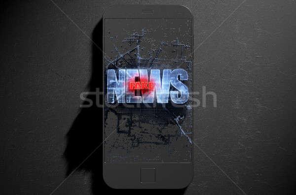 Pixel Fake News Stock photo © albund