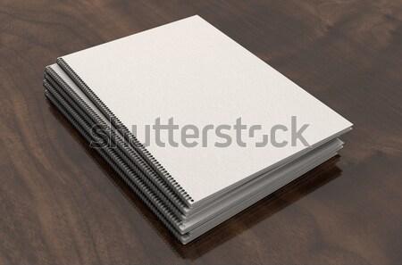 буклет проволоки книга документы Boardroom Сток-фото © albund