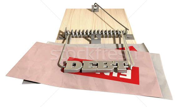 Mouse Debt Trap Font Bills Stock photo © albund