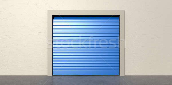 Storage Door and Wall Closed Stock photo © albund
