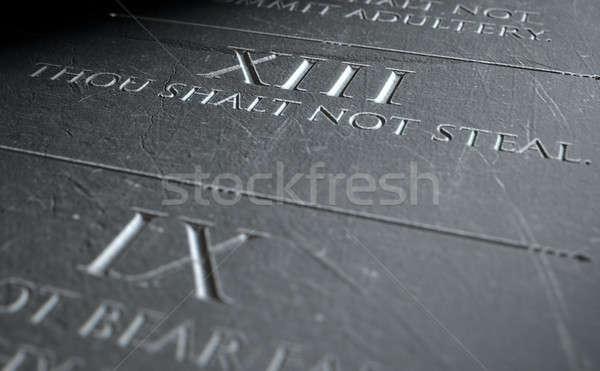 The Eighth Commandment Stock photo © albund