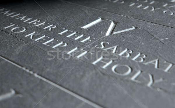 The Fourth Commandment Stock photo © albund